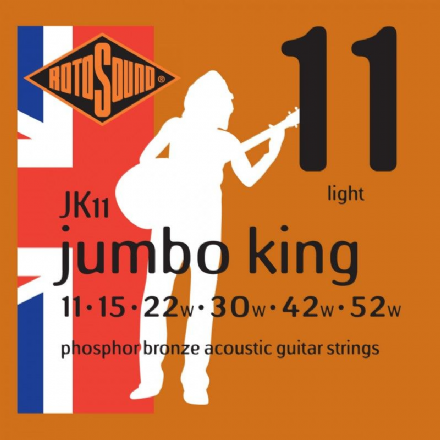 Rotosound JK11 Phosphor Bronze 11-52 Acoustic Guitar Strings